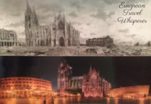 Cologne Cathedral After Being Bombed WWII Today