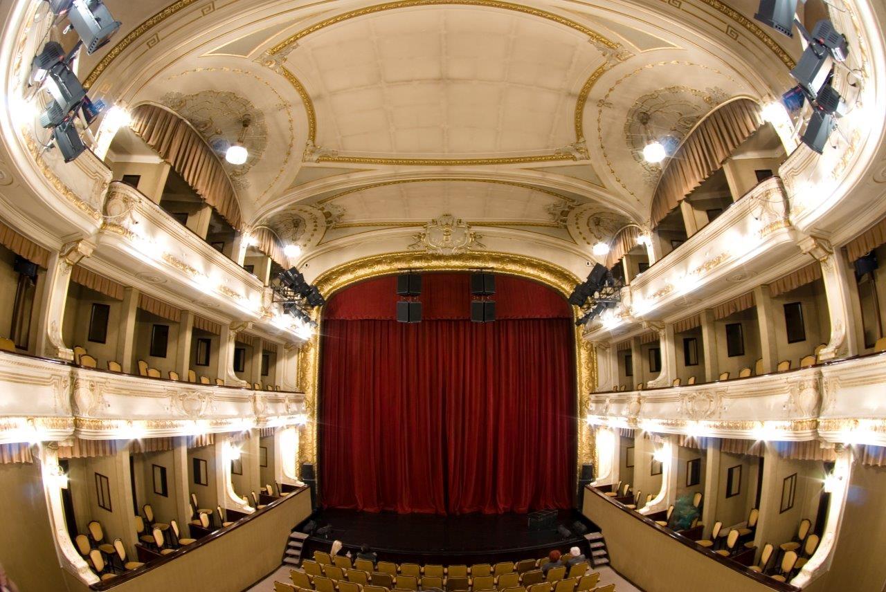 Interior of Slovenian National Theatre in Ljubliana