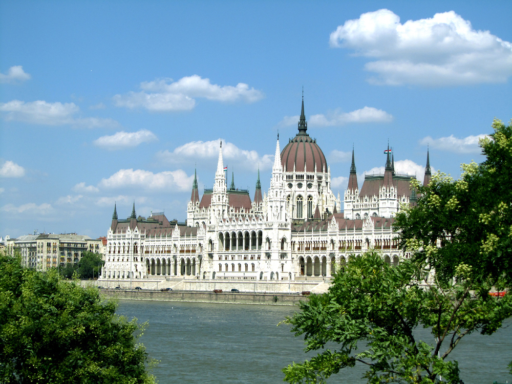 Budapest Parliament Builing on the Danube